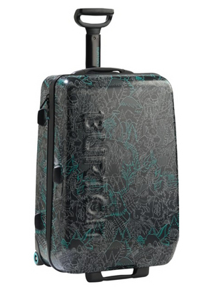 Burton hard shell luggage with Bigfoot colorway.