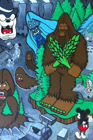 Bigfoot in Color ink book's group show.