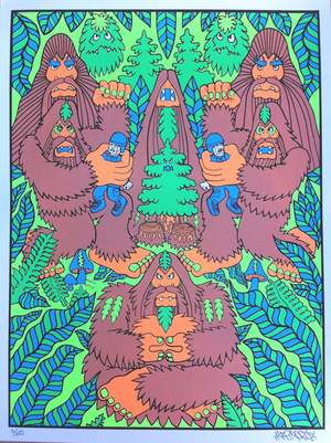 New Bigfoot screenprint poster in store!